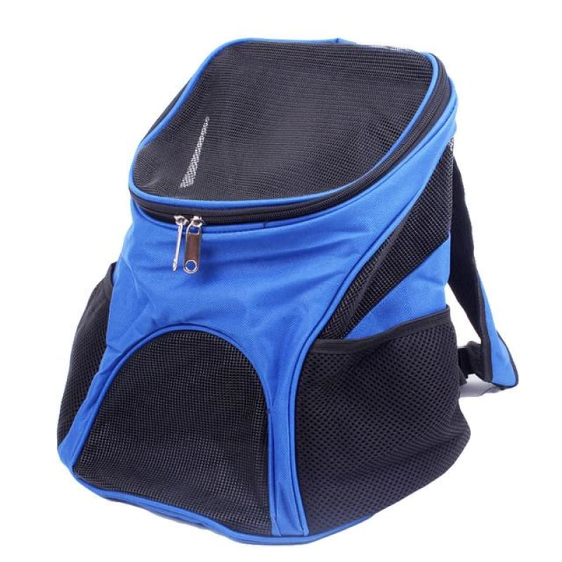 Premium Breathable Pets Travel Backpack Carrier - Blue / M