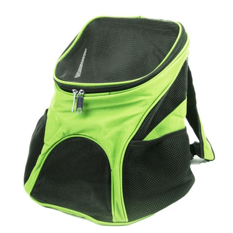 Premium Breathable Pets Travel Backpack Carrier - Green / M