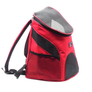 Premium Breathable Pets Travel Backpack Carrier - Red / M
