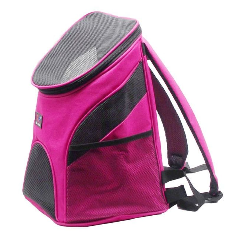 Premium Breathable Pets Travel Backpack Carrier - rose / M