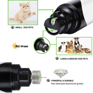 Premium Rechargeable Painless Pets Nail Grinder (Upgraded Version)