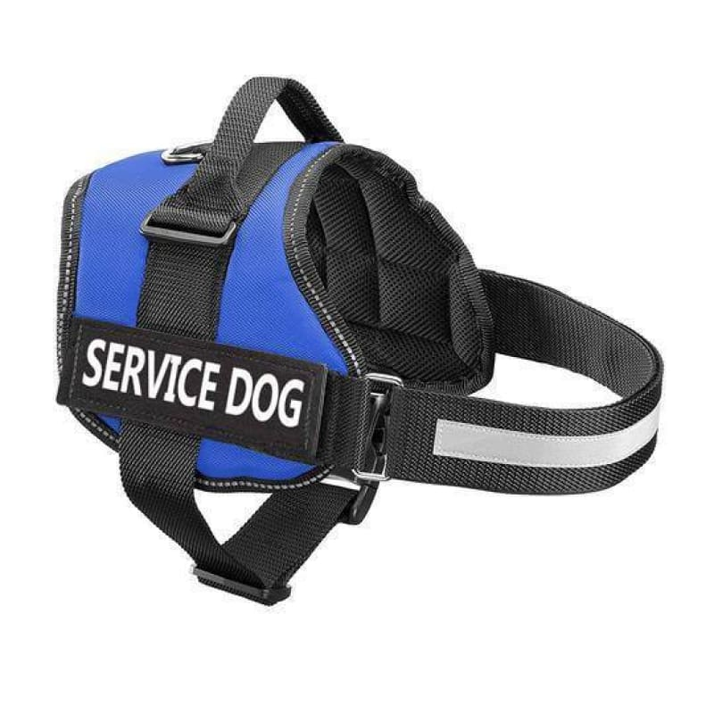 Pro All-In-One Sturdy No-Pull Dog Harness - XXS / BLUE / SERVICE DOG