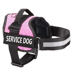 Pro All-In-One Sturdy No-Pull Dog Harness - XXS / PINK / SERVICE DOG