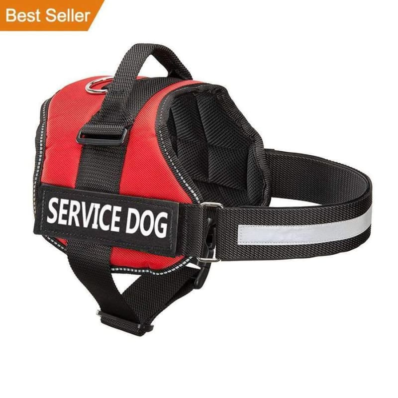 Pro All-In-One Sturdy No-Pull Dog Harness - XXS / RED / SERVICE DOG