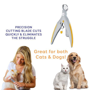 Professional LED Illuminate Light Pets Nail Clipper - Dog Nail Clippers