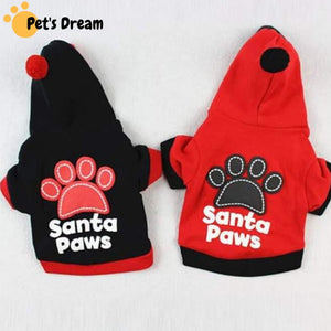 Santa Paws Hoodie for Small Puppu