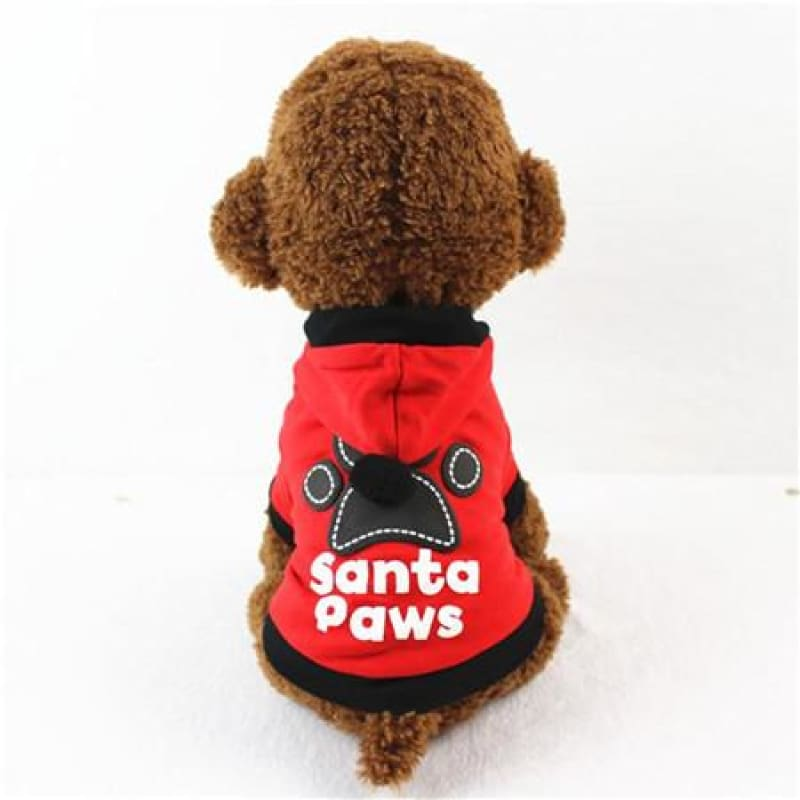 Santa Paws Hoodie for Small Puppu - Red / L / China