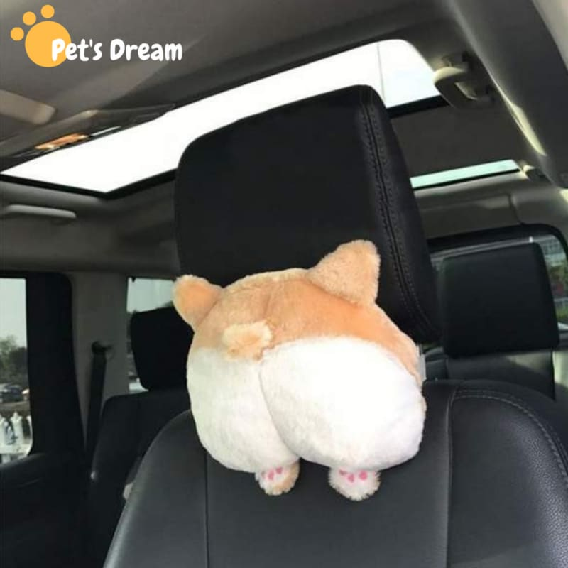 Ultra Soft Corgi Butt Car Neck Pillow