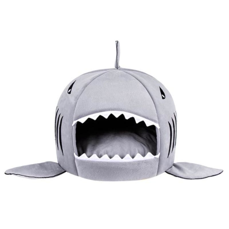 Unique Shark Bed for Pets - Gray / S