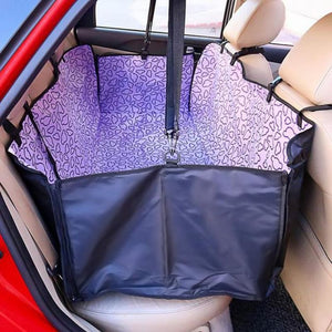 Waterproof Oxford Pets Car Seat Cover - Purple Cloud / 130X 150X 38Cm - Dog Carriers