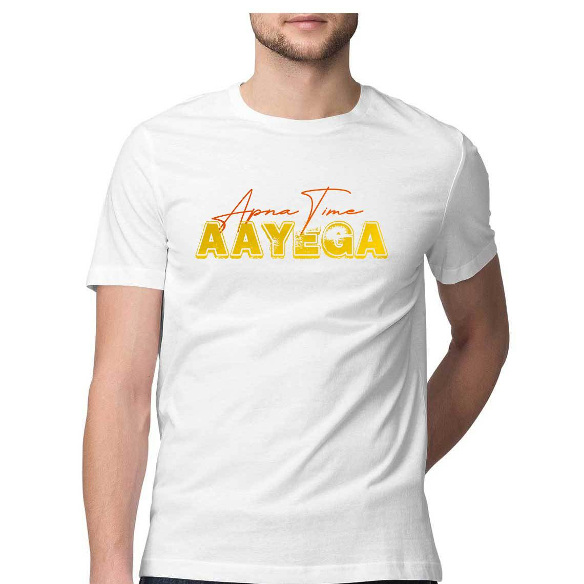 Apna Time Aayega Graphic Typography Gully Boy Men's Half-Sleeve T-Shirt