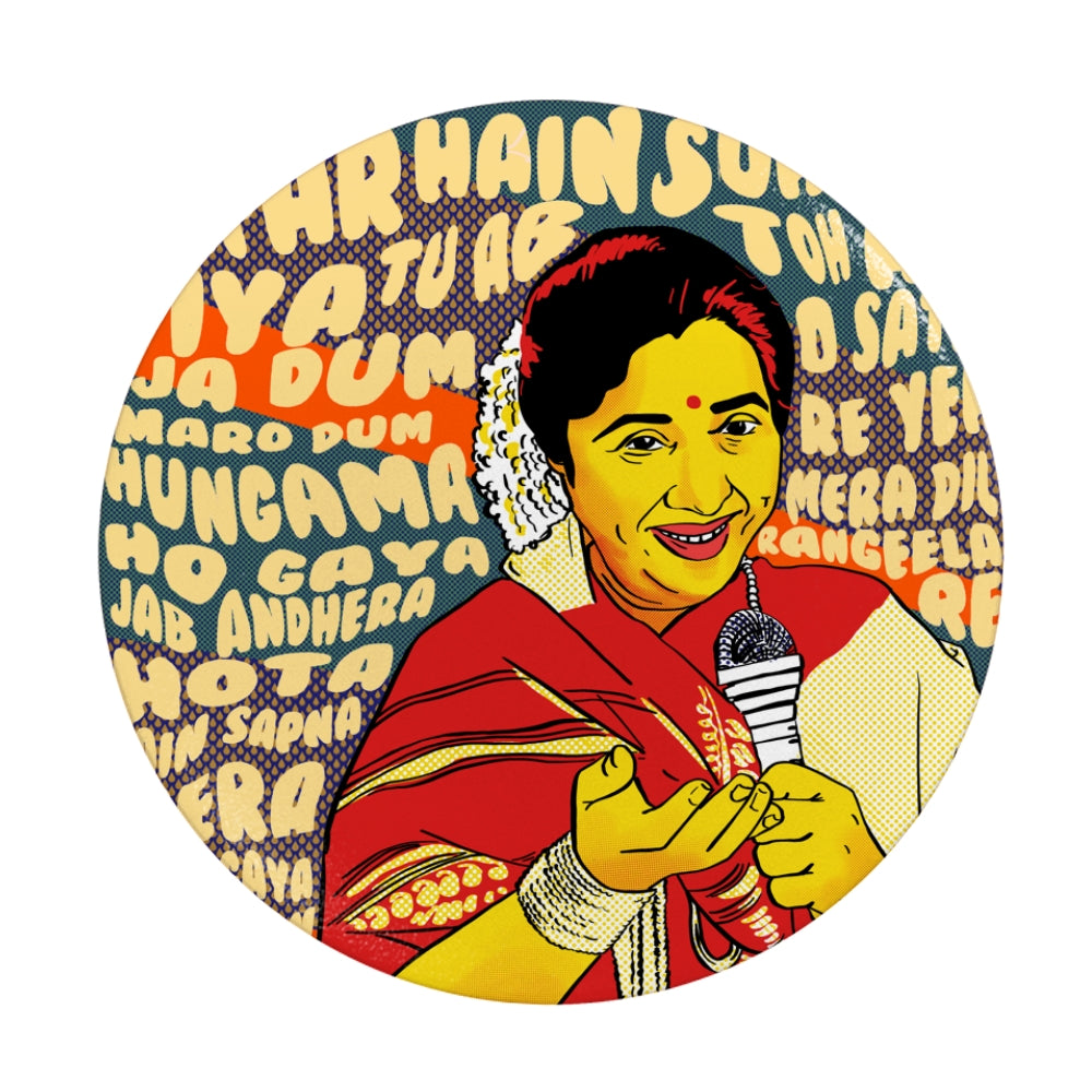 Asha Bhosle Collapsible Pop Grip PopSocket