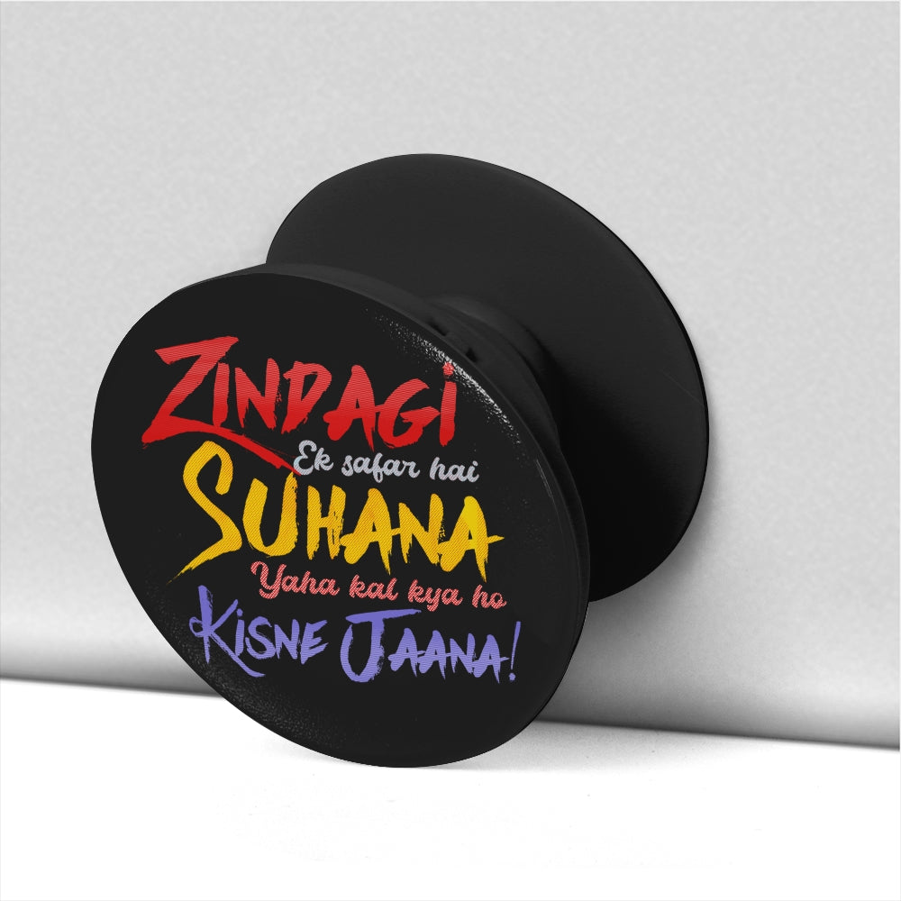 Zindagi Ek Safar Hai Suhana Bollywood Classics Hindi Music PopSocket phone Pop Grip
