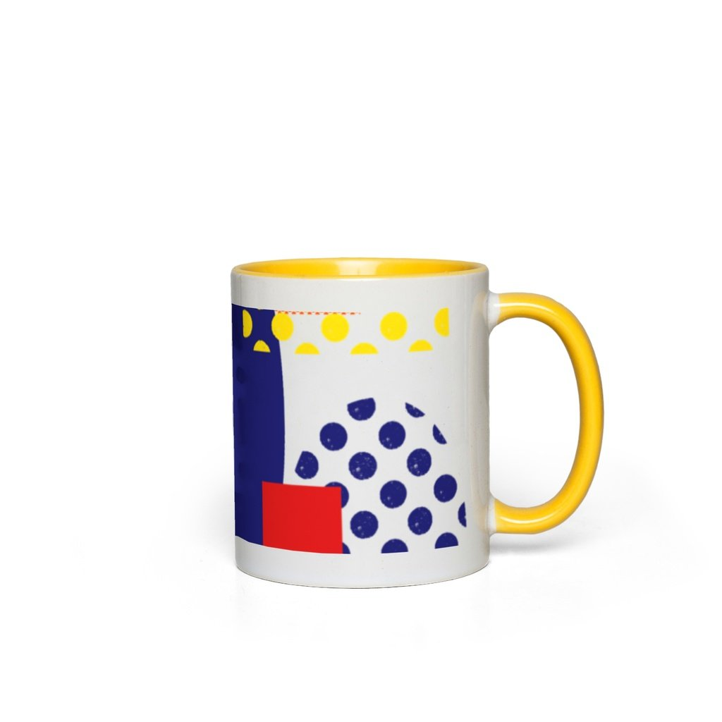 Pop Art Patterns Accent Ceramic Mug 11oz