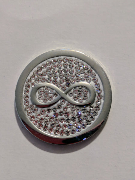 Silver Infinity Medallion
