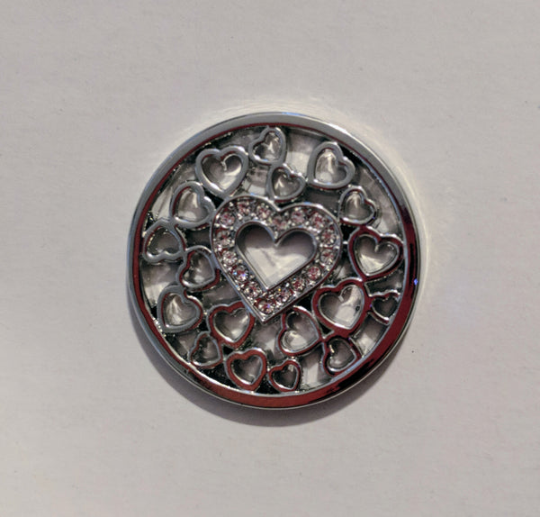 Silver Heart Medallion