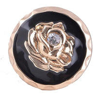 Rose Gold Black Ginger Snap Compatible Snap Charm 18mm