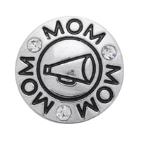 Cheer Mom Ginger Snap Button Compatible Charm Sport 18mm