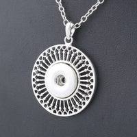 Boho Round Necklace with 20 inch nickel free chain 18mm