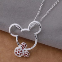 Sterling Silver Mouse Necklace