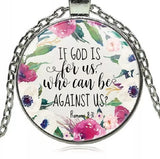 If God is For Us Necklace; silver or black