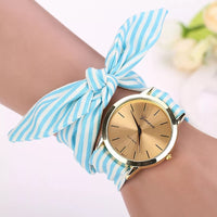 Turquoise and White Striped Watch