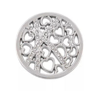 Silver Many Hearts Medallion