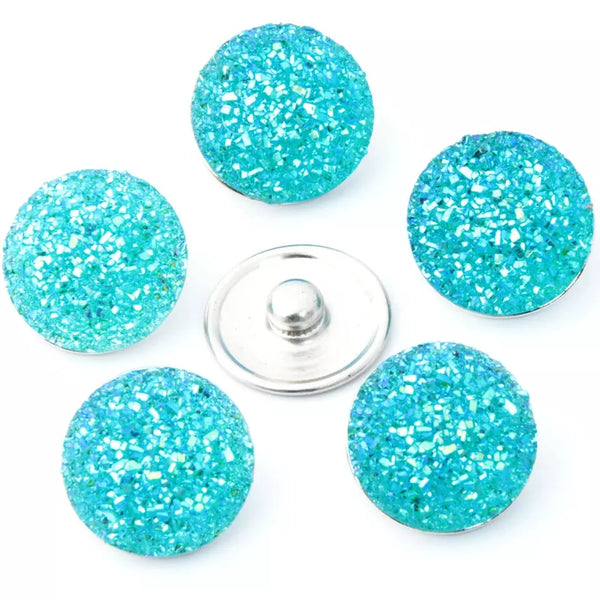 Teal Sugar Snap Ginger Snap Compatible Snap Charm 18mm