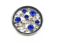 Blue and Silver Kaleidoscope Medallion