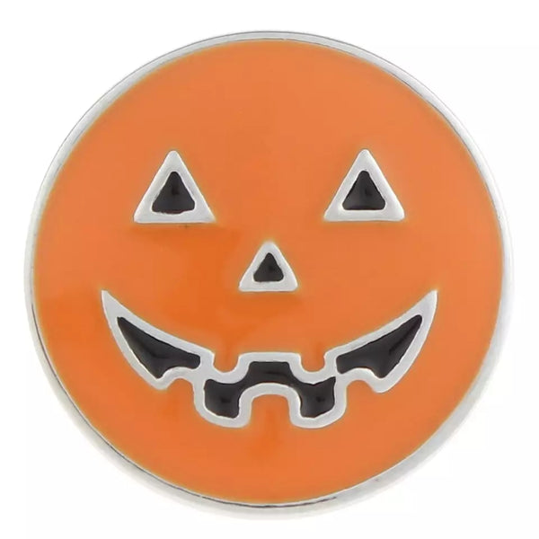 Pumpkin Ginger Snap Button Compatible Charm 18-20mm