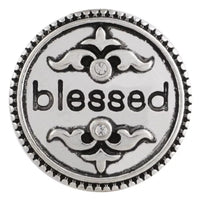 Vintage Blessed Snap Charm 18mm
