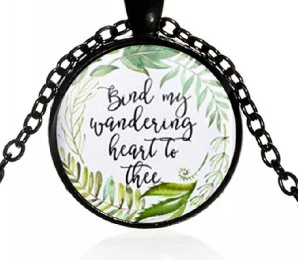 Bind My Wandering Heart Black Necklace