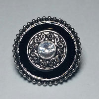 Classic Black Halo Snap Charm 18mm