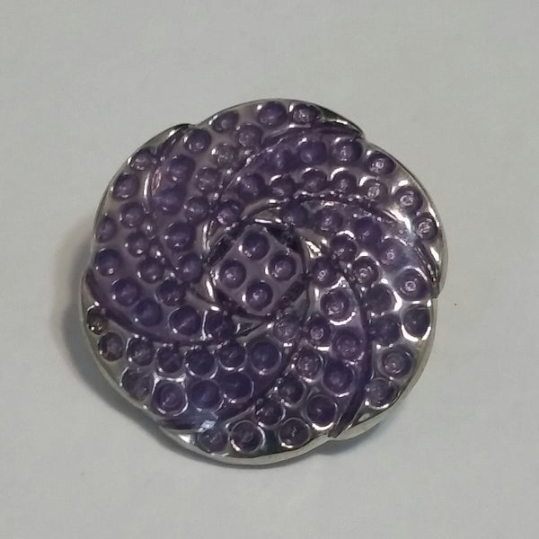 Purple Swirl Snap Charm 18mm