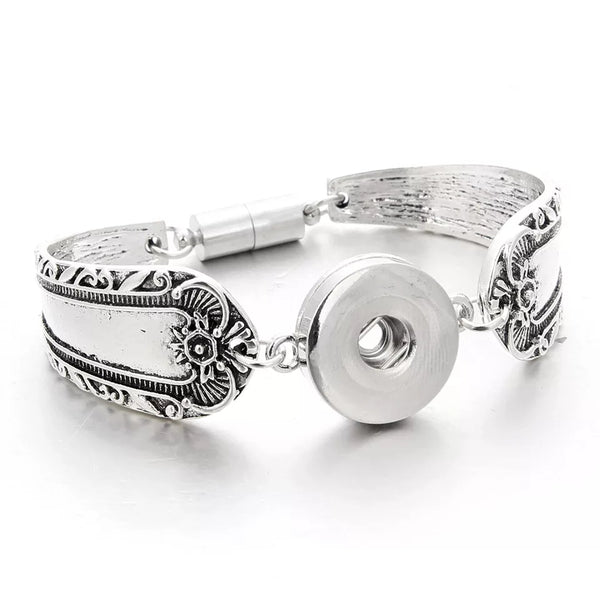Spoon Style Snap Bracelet 18mm with magnet clasp