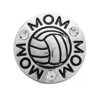 Volleyball Mom Ginger Snap Button Compatible Charm 18mm