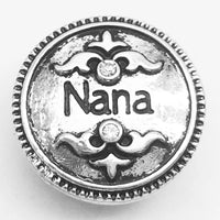 Nana Ginger Snap Button Compatible Charm 18mm