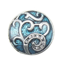 Blue Tree of Life Snap Charm 18mm