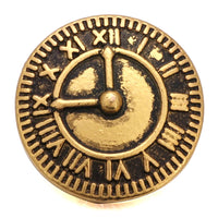 Gold Clock Ginger Snap Button Compatible Charm 18mm