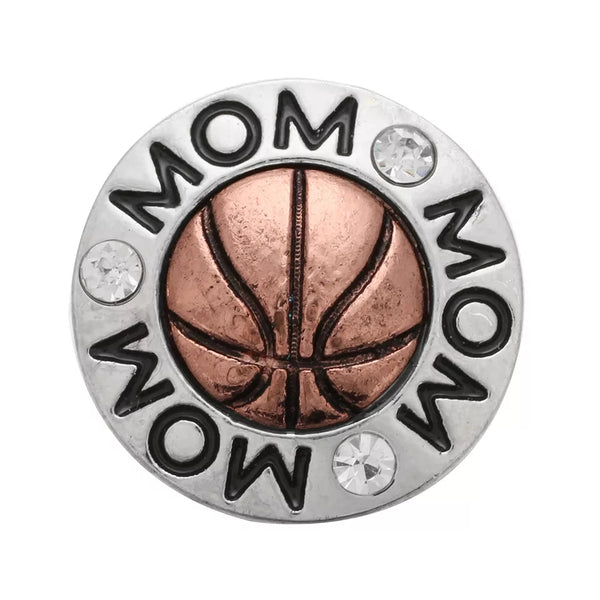 Basketball Mom Ginger Snap Button Compatible Charm Sport 18mm
