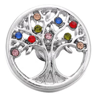 Colorful Family Tree Snap Charm 18mm