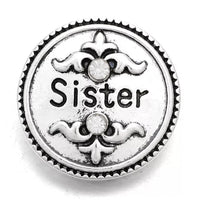 Sister Ginger Snap Button Compatible Charm 18mm