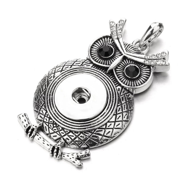 Owl Snap Necklace 18mm