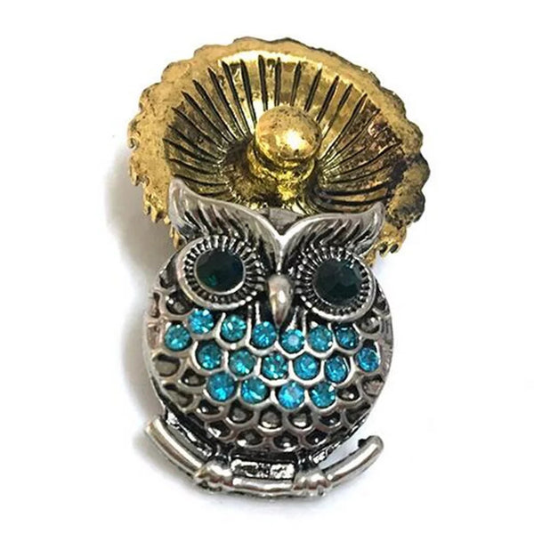 Blue Owl Snap Charm 18mm