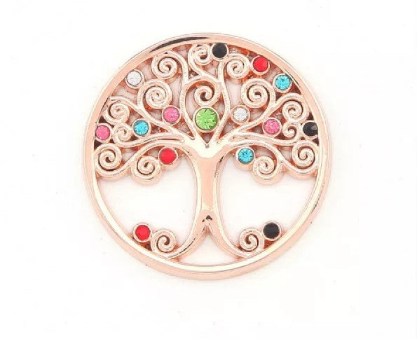 Gold Colorful Tree Medallion