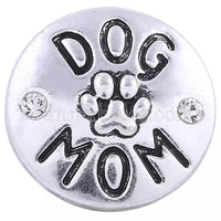 Dog Mom Snap Charm 18mm