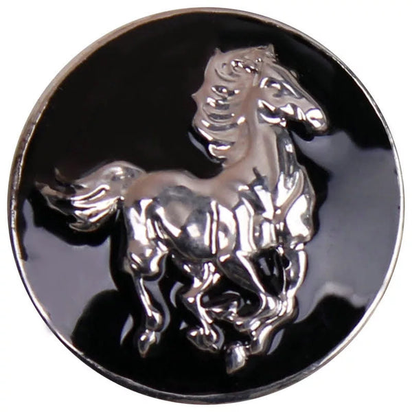 Black Horse Snap Charm 18mm
