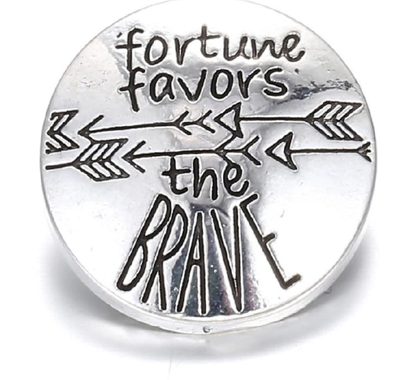 Fortune Favors the Brave Ginger Snap Compatible Charm 18mm