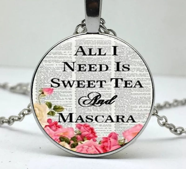 Sweet Tea and Mascara Necklace