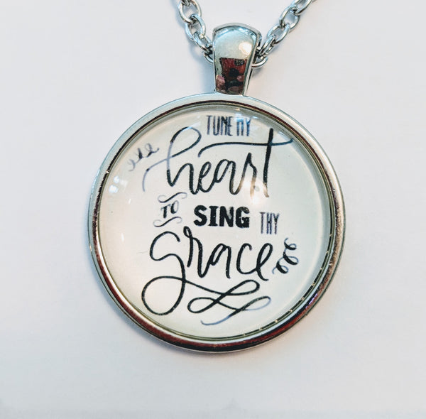 Tune my Heart to Sing Thy Grace; silver and gold